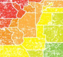 colorado color counties Sticker