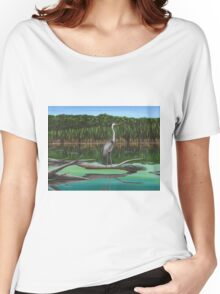 Blue Heron on Irondequoit Creek Rochester NY Women's Relaxed Fit T-Shirt