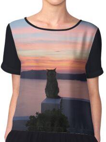 Cat - Sunset Chiffon Top