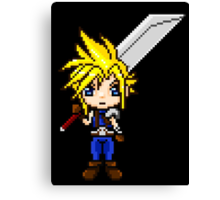 Cloud Strife Pixel Art Canvas Print