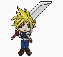 Cloud Strife Pixel Art by geekmythology
