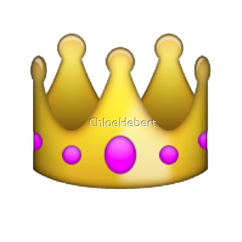 Quot Crown Emoji Quot Throw Pillows By Chloe Hebert Redbubble
