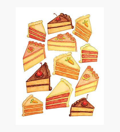 Cake Pattern Photographic Print