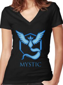 Team Mystic | Pokemon GO Women's Fitted V-Neck T-Shirt