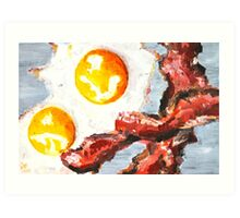 Eggs and Bacon Painting Art Print