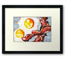 Eggs and Bacon Painting Framed Print