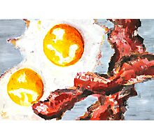 Eggs and Bacon Painting Photographic Print