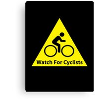 Watch For Cyclists Canvas Print