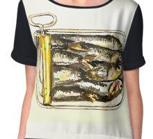 Sardines Painting Chiffon Top