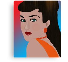 Thoughtful Woman Canvas Print