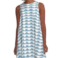 Blue moBile A-Line Dress