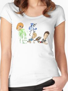 Ultimate Cartoon Mashup Women's Fitted Scoop T-Shirt