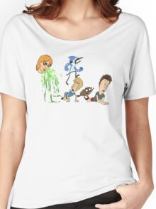 Ultimate Cartoon Mashup Women's Relaxed Fit T-Shirt