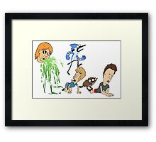 Ultimate Cartoon Mashup Framed Print