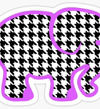 Houndstooth Elephant Sticker