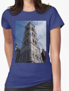 Looking up the Bell Tower Womens Fitted T-Shirt