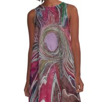 Abstract pink flower  A-Line Dress