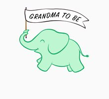 Green Elephant Grandma to Be  Womens Fitted T-Shirt