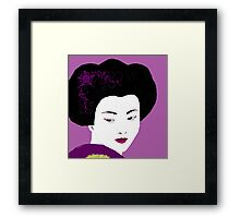 Geisha in Magenta  Framed Print