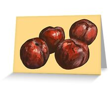 Plum Painting Greeting Card