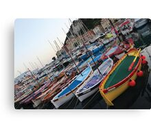 old port in Nice, France Canvas Print