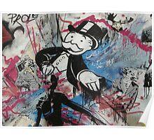 graffiti - Monopoly man Poster