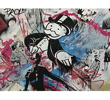 graffiti - Monopoly man Photographic Print