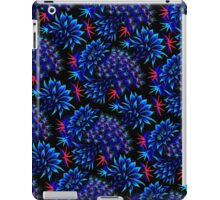Cactus Floral - Bright Blue/Red iPad Case/Skin