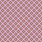 Pastel Pink Yellow Crisscross Pattern by donnagrayson