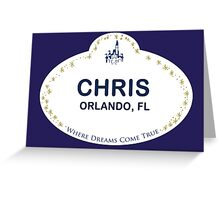 Chris From Orlando Greeting Card