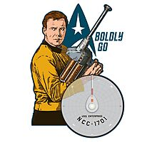Boldly Go Photographic Print