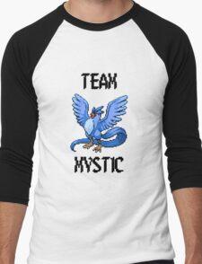 Pixelated Team Mystic Men's Baseball ¾ T-Shirt
