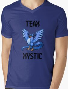 Pixelated Team Mystic Mens V-Neck T-Shirt