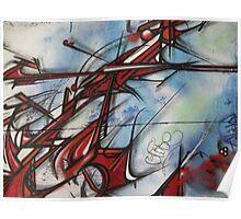 graffiti - dragon like lines Poster