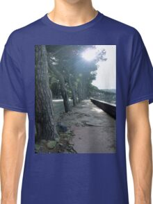 Tree Lined Walkway in Naples, Italy Classic T-Shirt