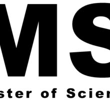 MS (Master of Science) Oval Sticker