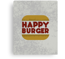 Happy Burger Canvas Print