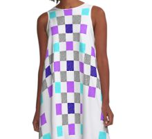 Quilted Eye A-Line Dress
