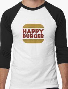 Happy Burger Men's Baseball ¾ T-Shirt