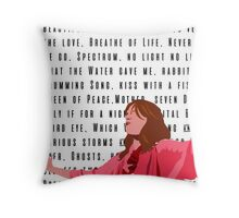 Florence and the Machine Red Throw Pillow
