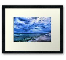 Ocean Beach On A Cloudy Day Framed Print