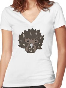 Edi the Echidna Women's Fitted V-Neck T-Shirt
