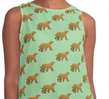 Afghan Hound Cartoon Dog Contrast Tank