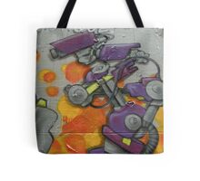 robot graffiti with cctv cameras Tote Bag