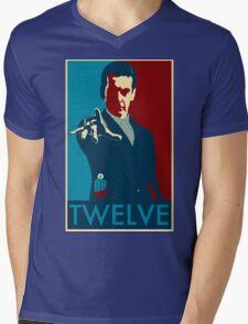 Peter Capaldi Hope Poster Mens V-Neck T-Shirt