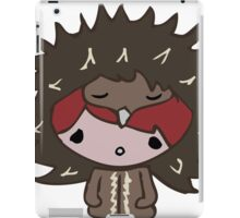 Girl with Echidna hat iPad Case/Skin