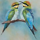 Rainbow Bee-eaters by JulieWickham