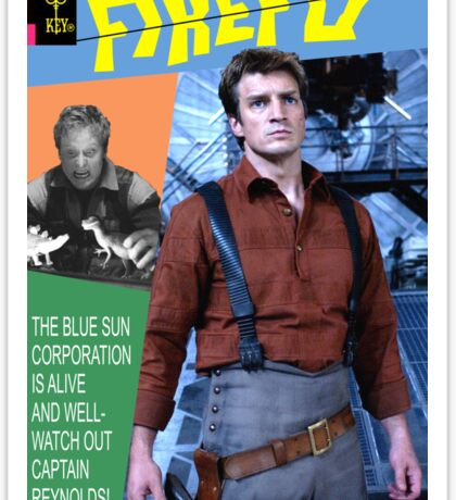 Firefly Vintage Comics Cover Sticker