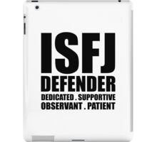ISFJ Defender Introvert iPad Case/Skin