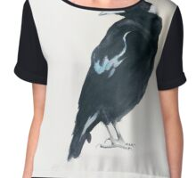 AUSTRALIAN MAGPIE -  THE (BIRD) VOICE Chiffon Top